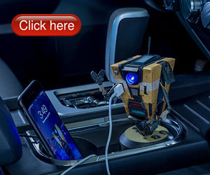 Borderlands Claptrap Talking Car Charger Fits Your Standard Cup Holder