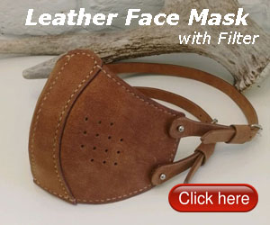 Leather Face Mask with Filter
