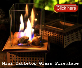 Roasting S'mores in Your Small Apartment with Mini Tabletop Glass Fireplace