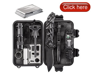 WORSPODAY Emergency Survival Kit in One Compact Waterproof Case