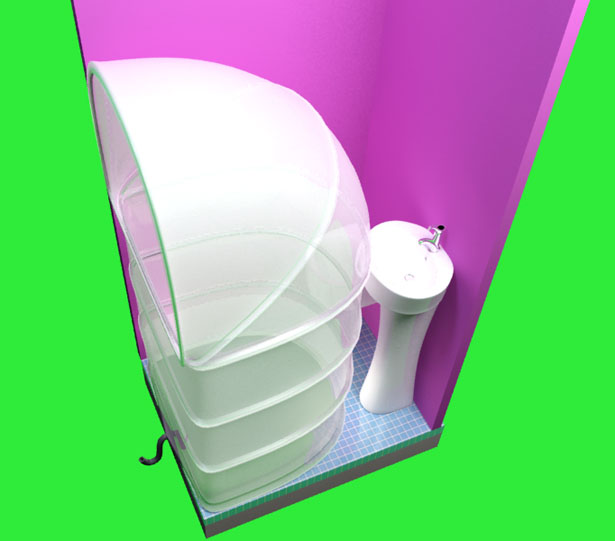 My Rups Folding Shower Concept For Limited Bathroom Space